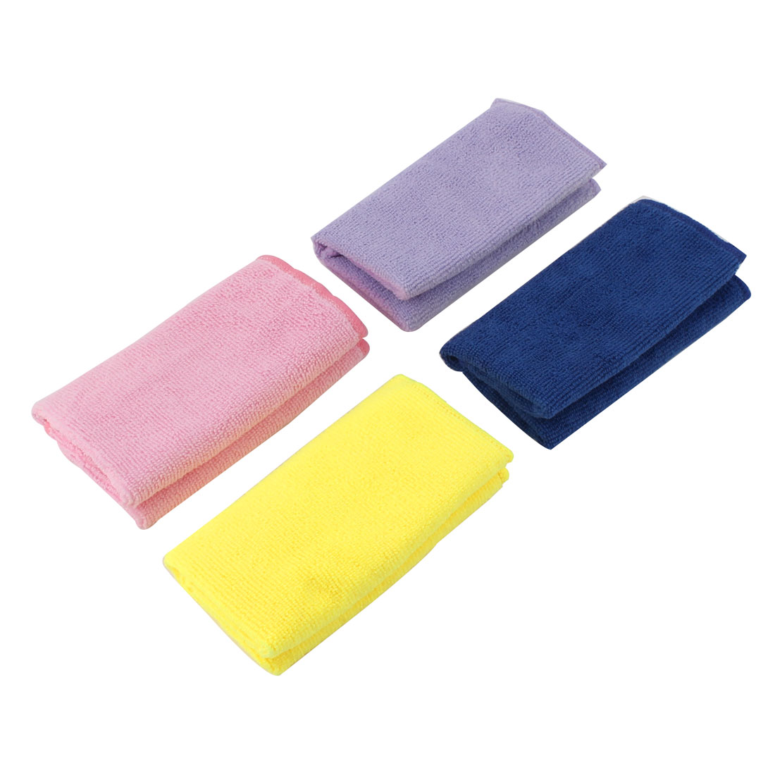 Household Fibre Dish Cleaning Cloth Cleaner Assorted Color 30cm x 30cm 4 Pcs