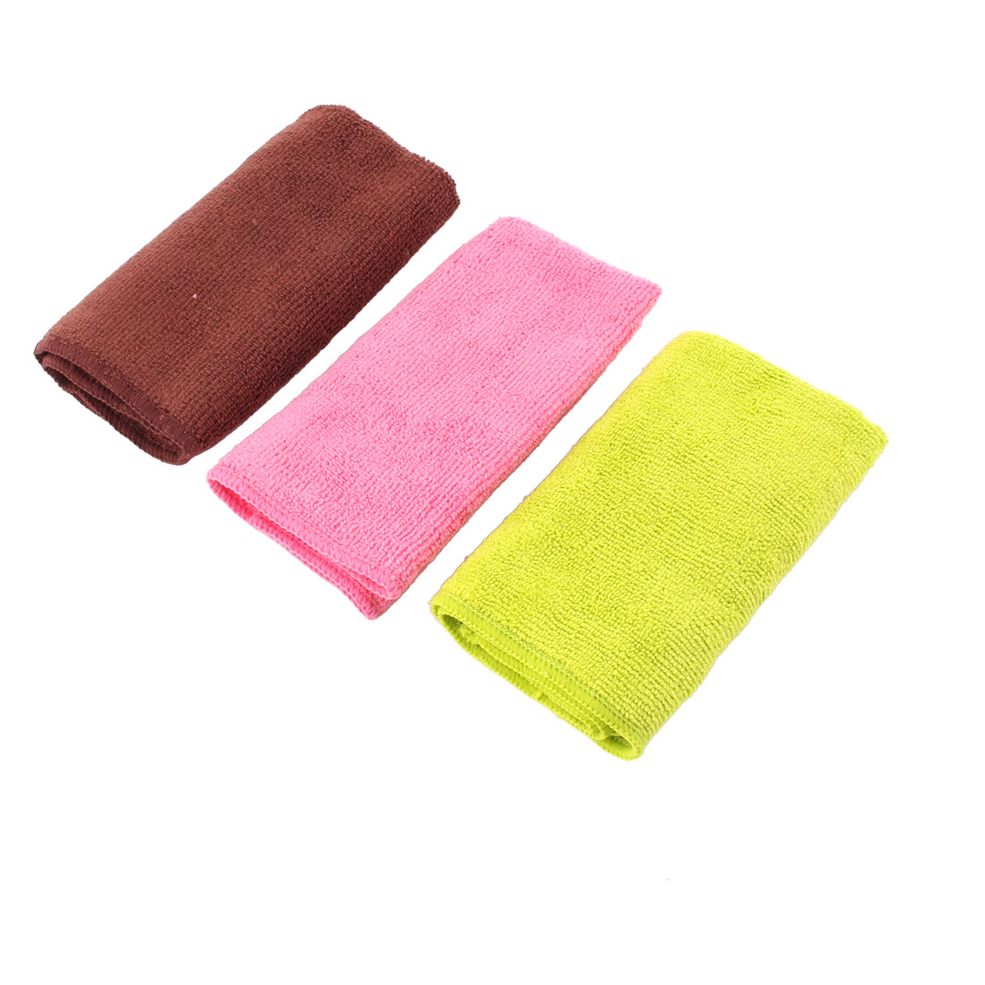 Household Kitchen Fibre Dish Cleaning Cloth Cleaner Tricolor 30cm x 30cm 3 Pcs