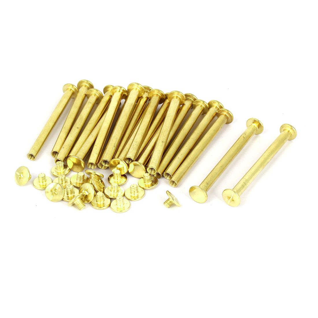 5mmx55mm Brass Plated Chicago Screws Binding Posts Docking Rivet 20pcs