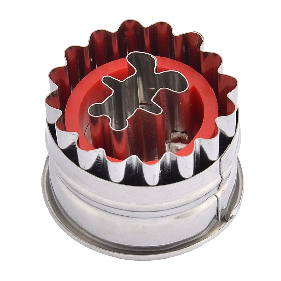 Household Kitchen Metal Bear Shaped Round Spring Cake Cookie Cutter Mould Mold