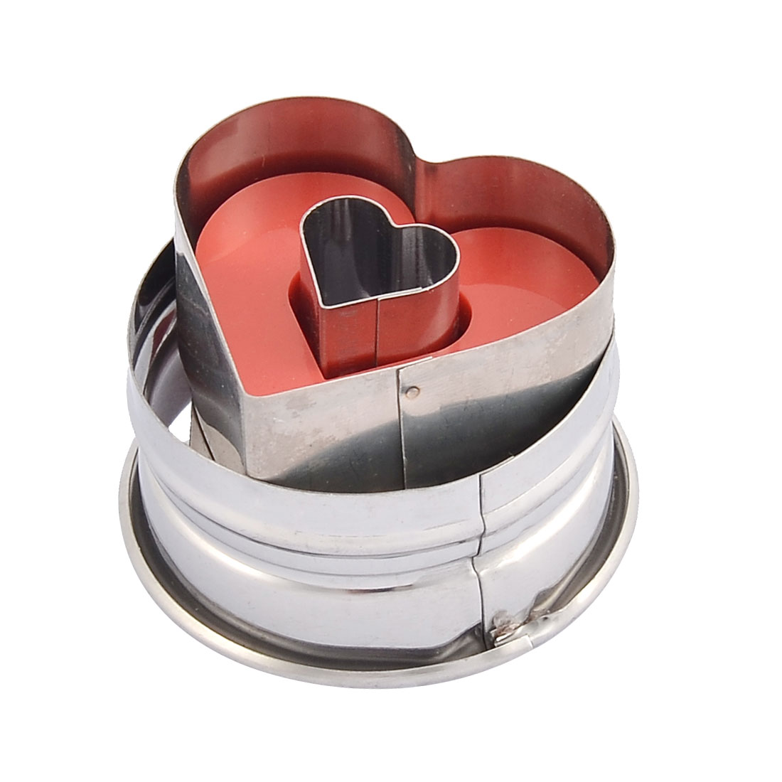 Household Kitchen Metal Frame Heart Shaped Spring Cake Cookie Cutter Mould Mold