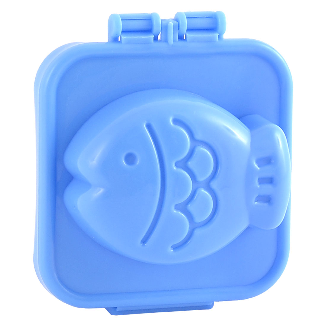 Bakery Kitchen Plastic Fish Shaped Bread Maker Sandwich Sushi Rice Mold Blue
