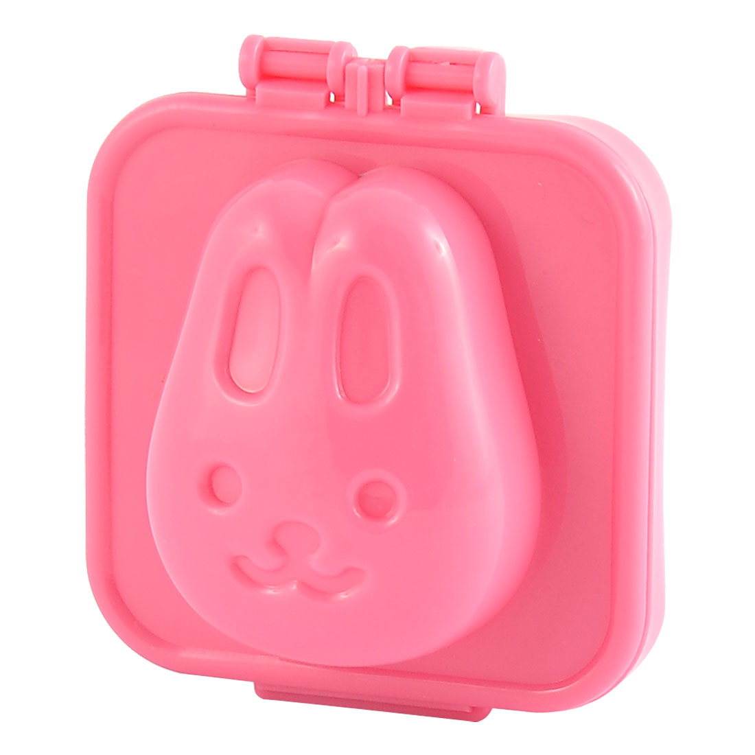 Bakery Kitchen Plastic Rabbit Shaped Bread Maker Sandwich Sushi Rice Mold Pink