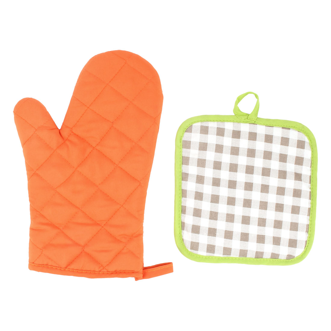 Kitchen Insulated Padded Heat Resistant Baking Tool Oven Gloves Mitt Pair