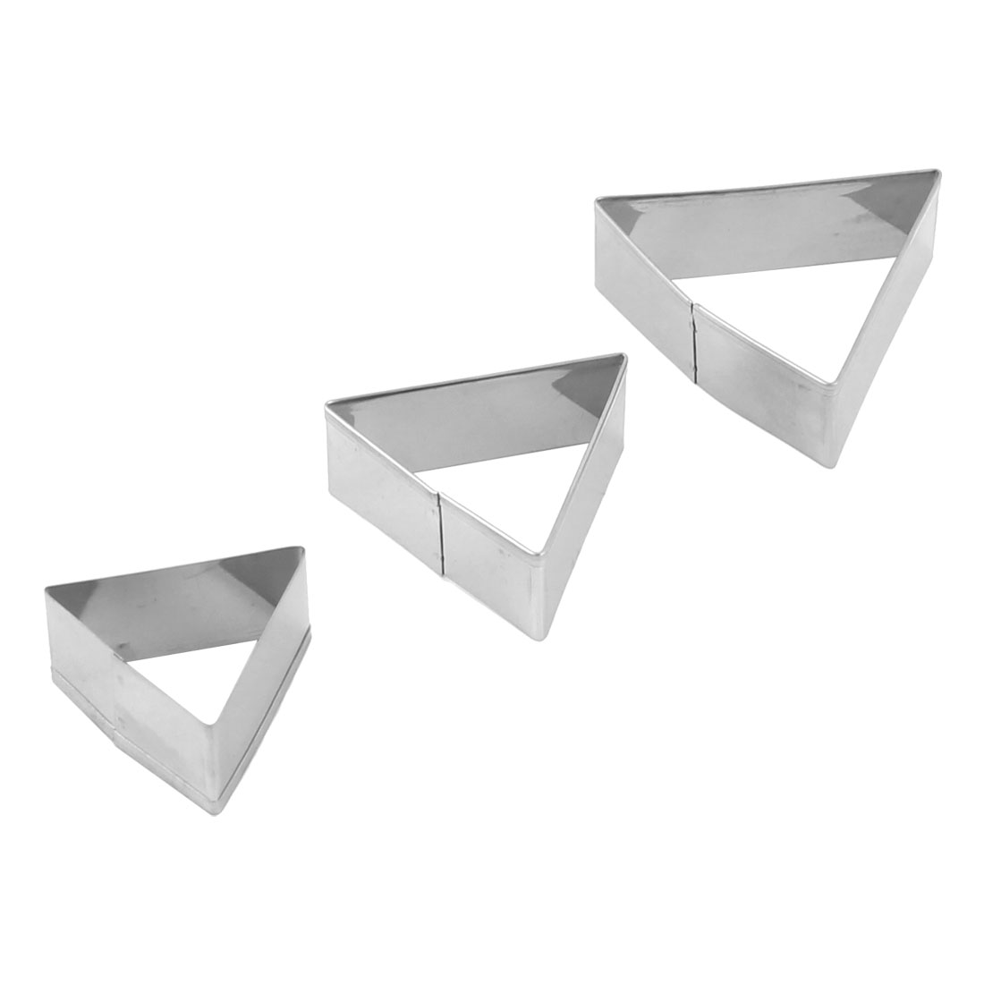 Home Kitchen Metal Triangle Shaped Cake Biscuit Making Tool Mold Mould 3 in 1