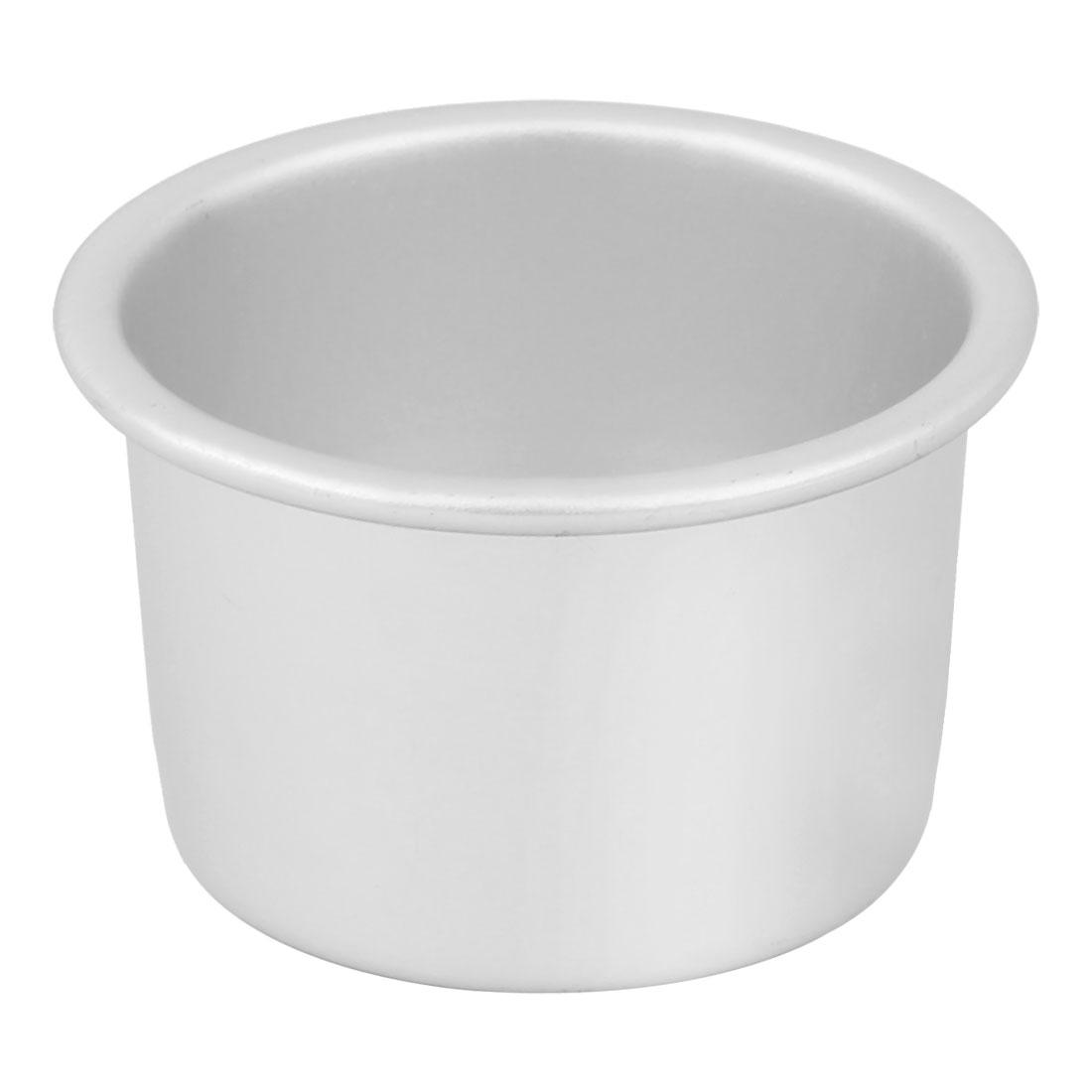 Aluminum Alloy Removable Bottom Nonstick Bread Cake Mold Mould Pot Silver Tone