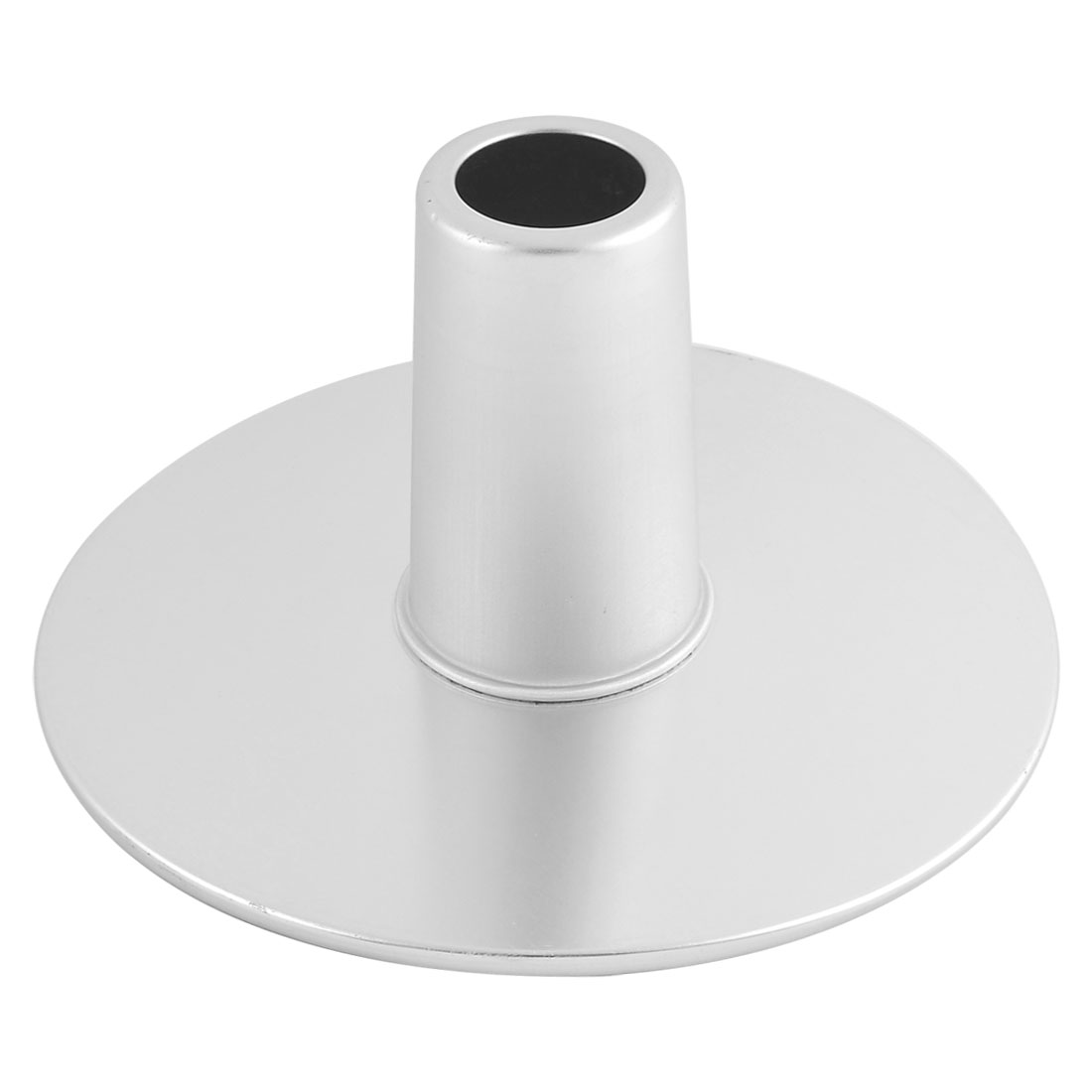 Bakery Kitchen Aluminum Chimney Shaped Rotating Cake Stand Mold Silver Tone
