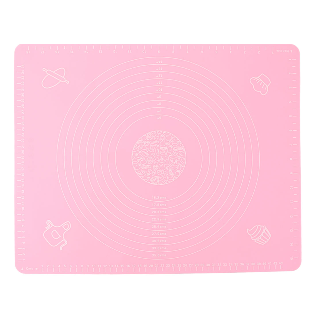 Household Silicone Nonstick Pastry Cake Dough Baking Mat Sheet Pad Pink