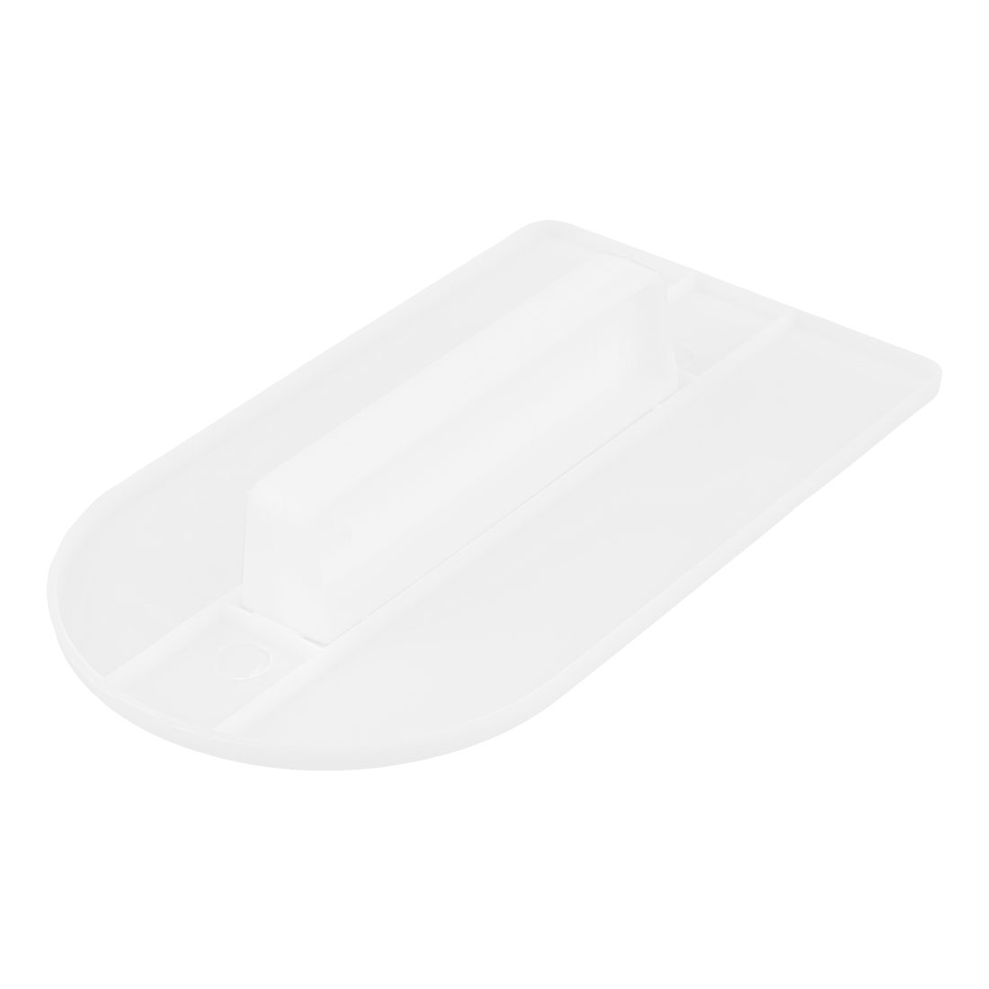 Bakery Kitchen Plastic Scraper Dessert Cake Cream Smoother Polisher White