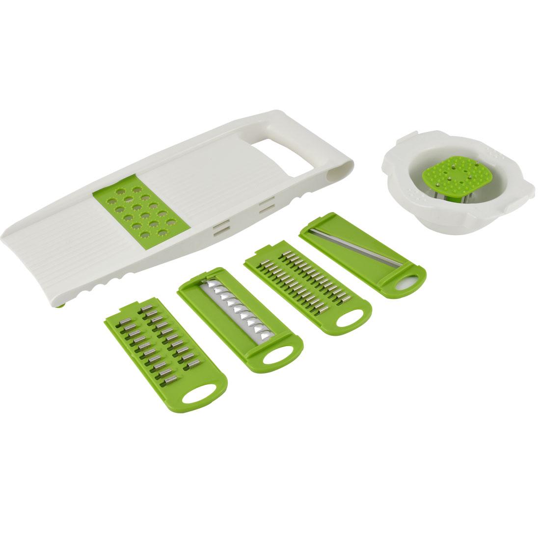 Household Kitchen Plastic Vegetable Fruit Slice Grater Peeler Cutter 5 in 1