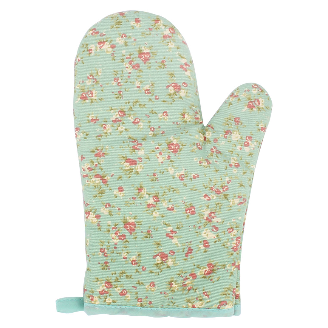 Household Flower Decor Insulated Padded Baking Tool Oven Gloves Mitt Pair