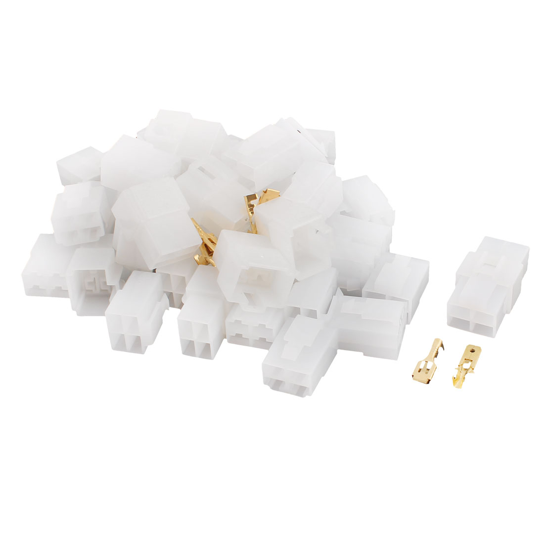 "20 Sets Nylon Latching Connector 4P 6.3mm 1/4"" Male Female for 18-14AWG Wire"