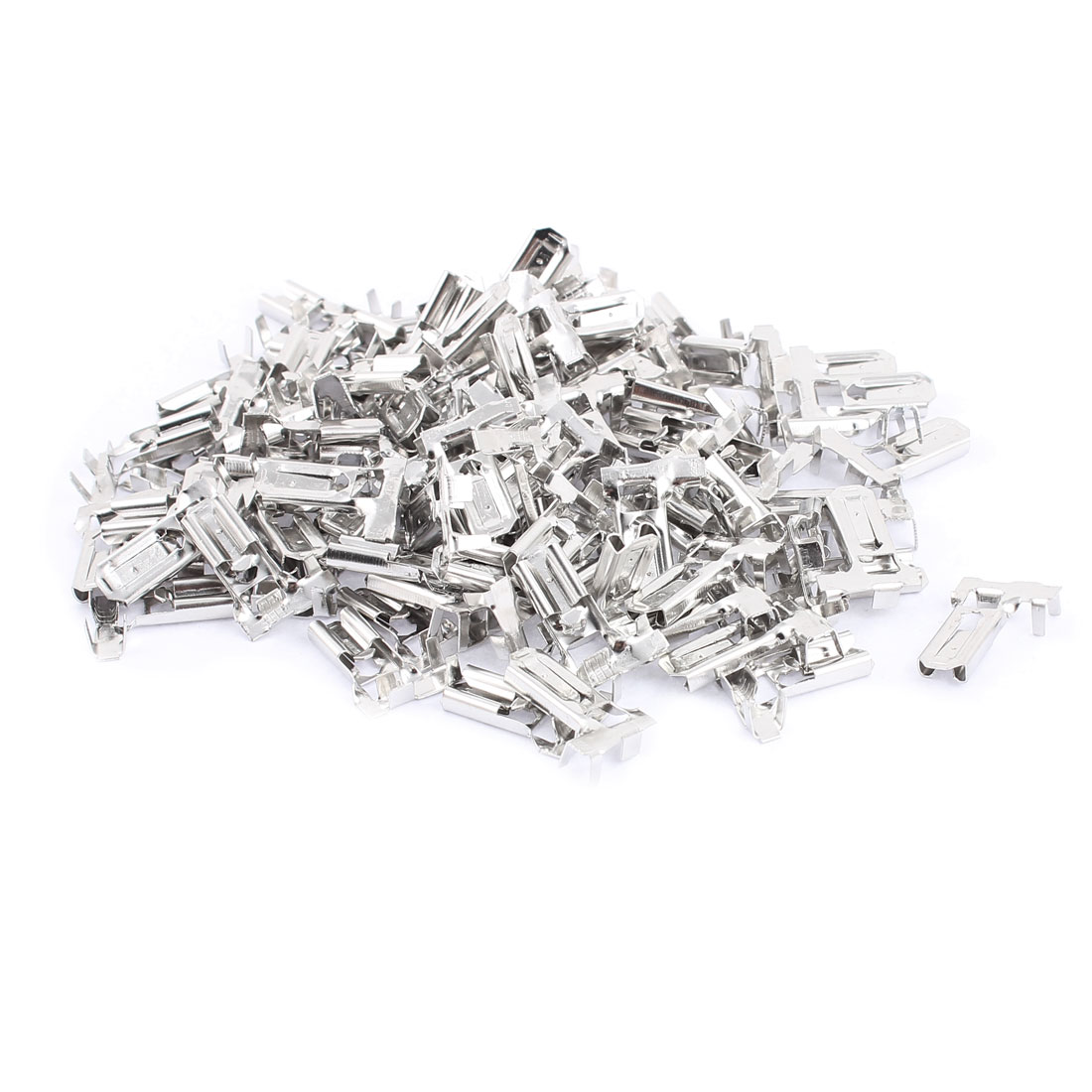 100 Pcs 90 Degree 6.3mm Stud Width Female Locking Wire Terminal Connector
