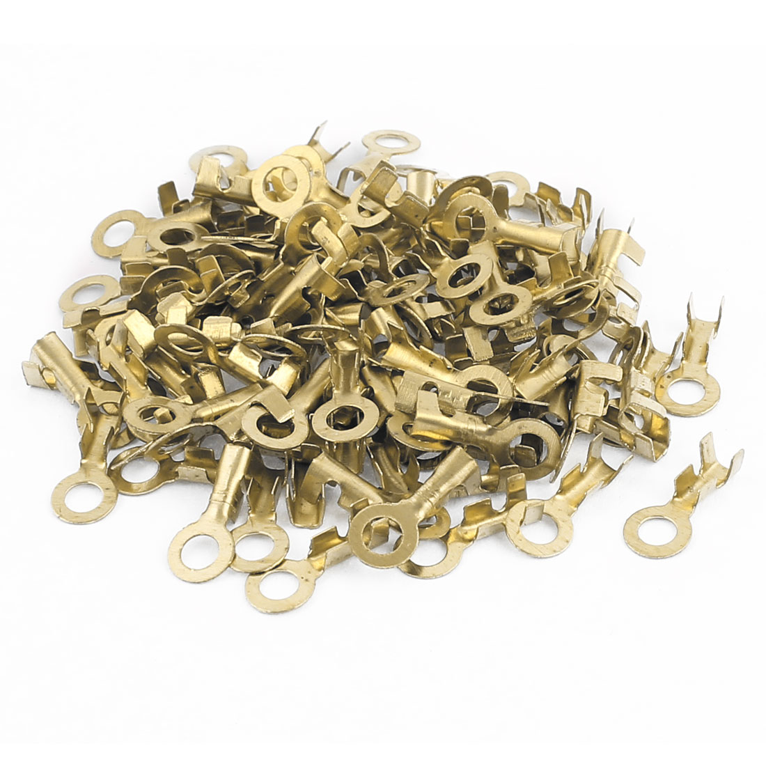 100 Pcs 2.7mm Dia Open Cable Connector Ring Tongue Passing Through Terminals