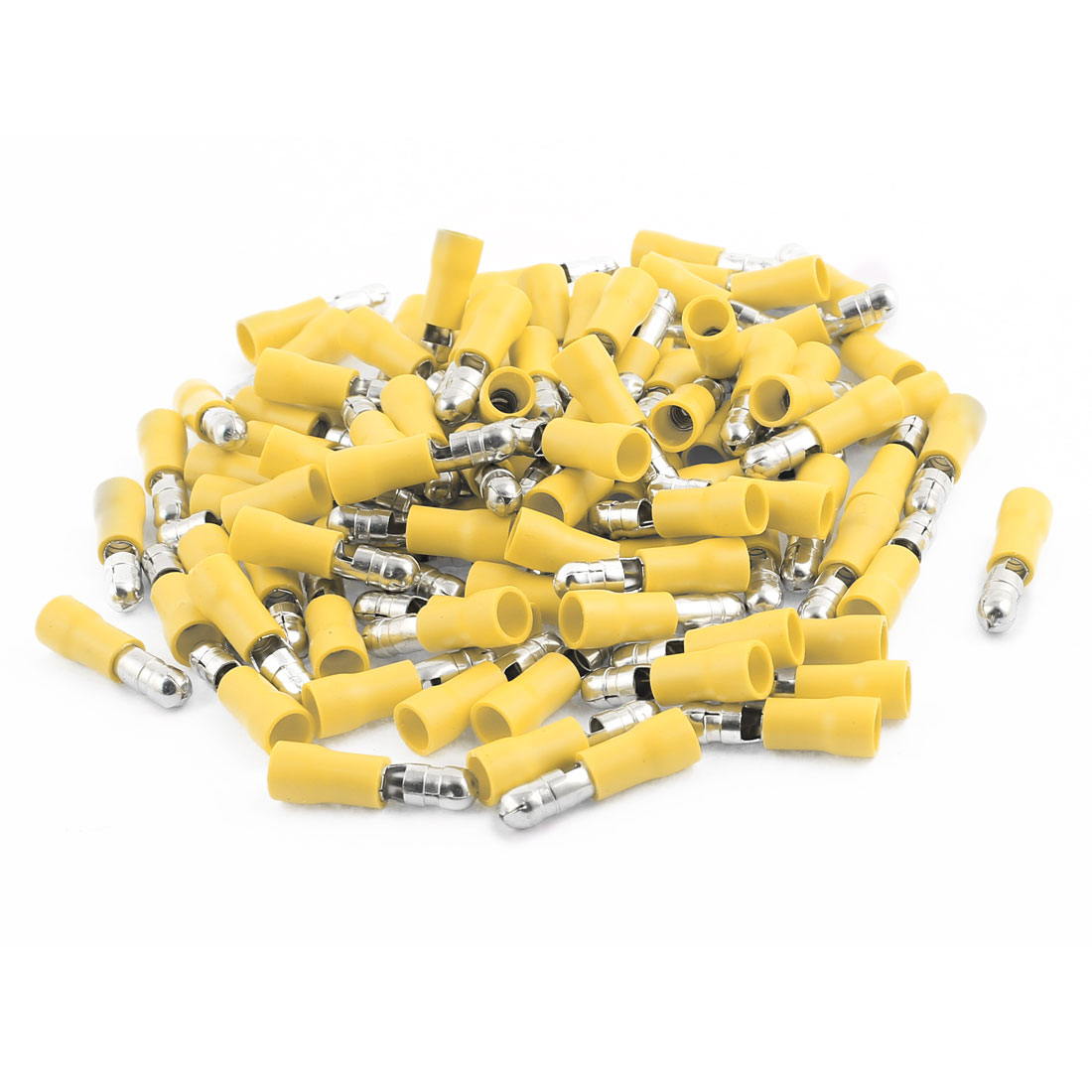 100Pcs MPD5.5-195 4-6 AWG Wire Insulated Male Terminal Connector