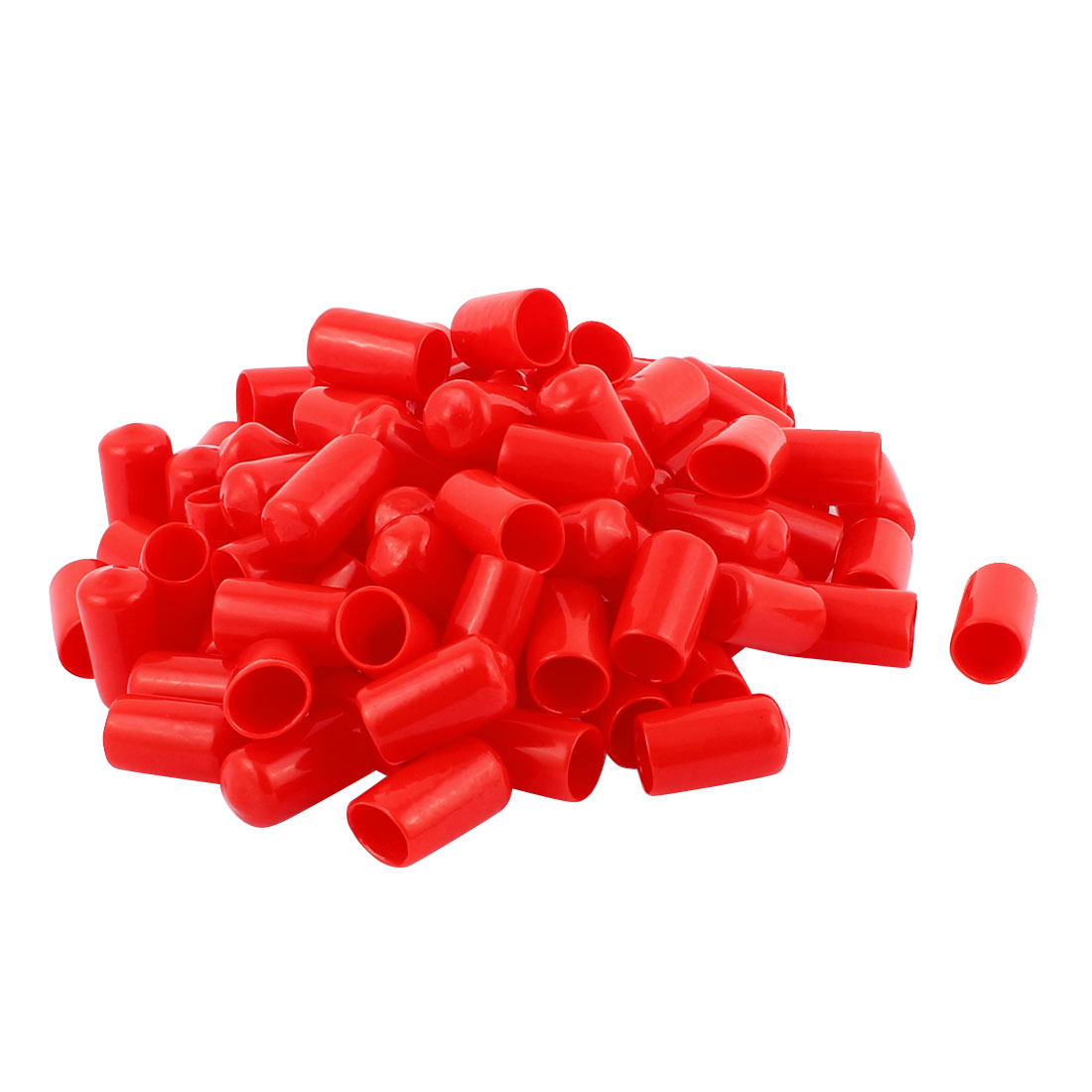 100pcs 11mm Inner Dia Vinyl End Cap Wire Cable Tube Cover Protector