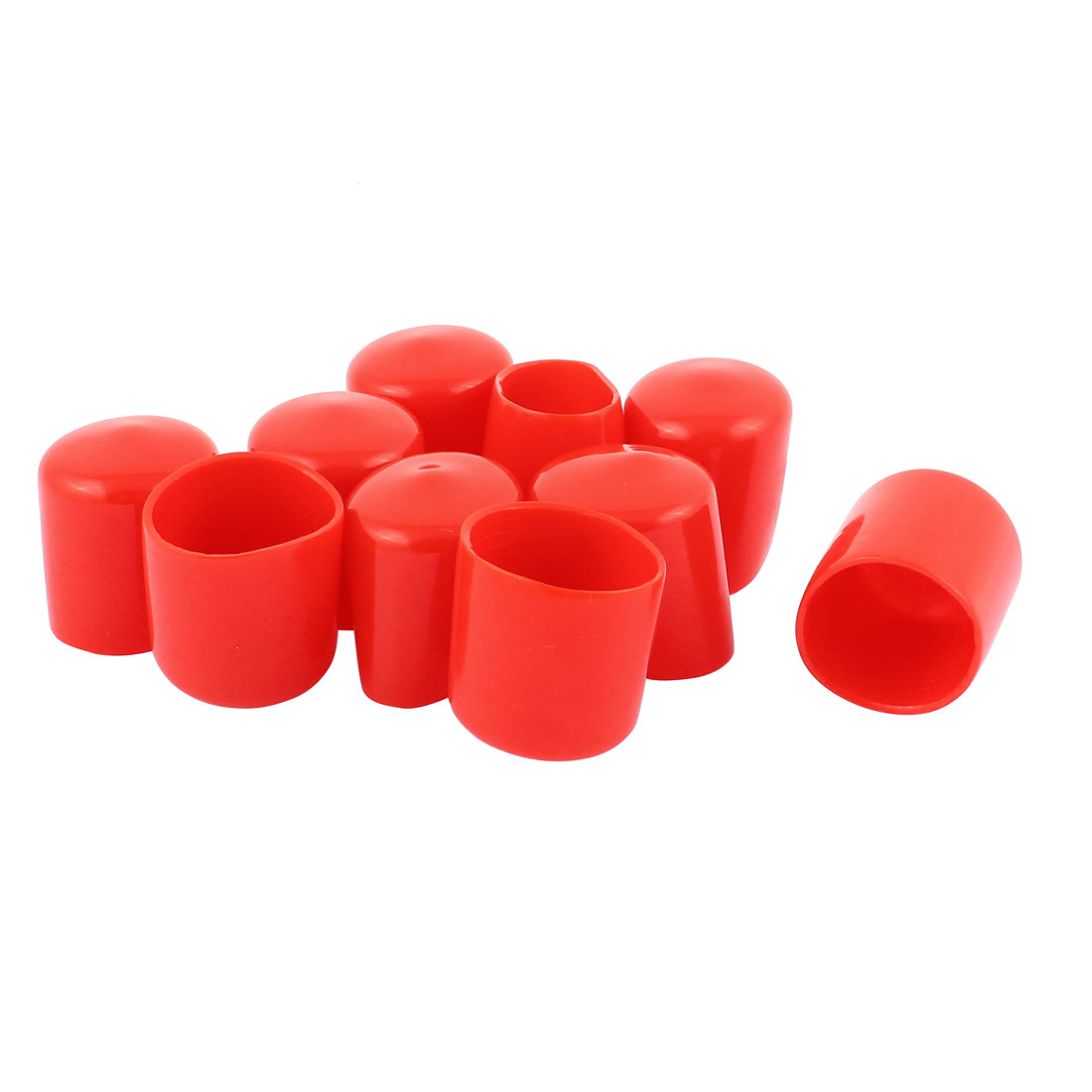 10pcs 34mm Inner Dia Vinyl End Cap Wire Cable Tube Cover Protector
