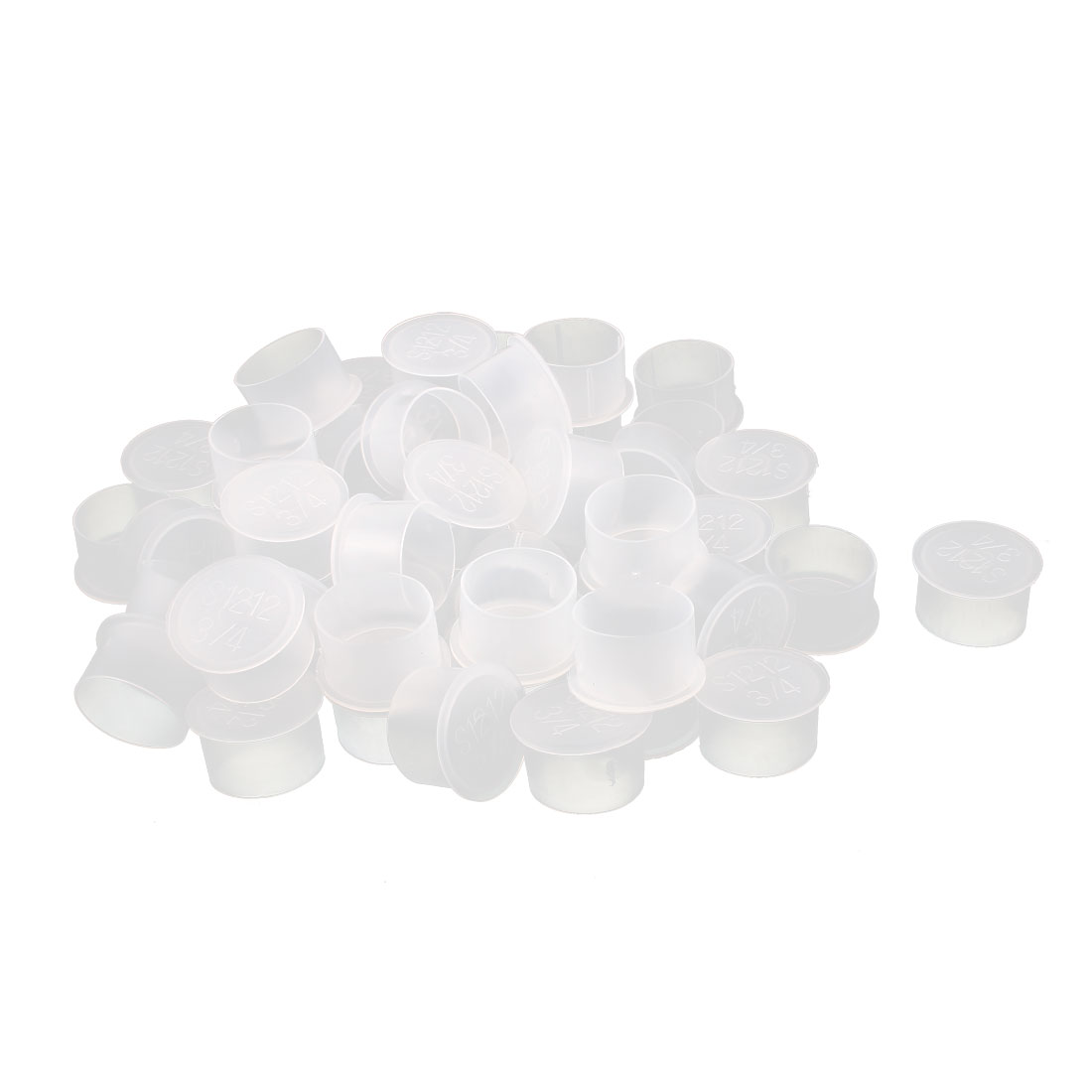 50Pcs 26mm Inner Dia PVC Insulated End Cap Wire Cable Tube Cover Protector