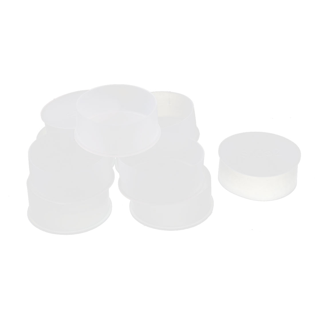 10Pcs 52mm Inner Dia PVC Insulated End Cap Wire Cable Tube Cover Protector