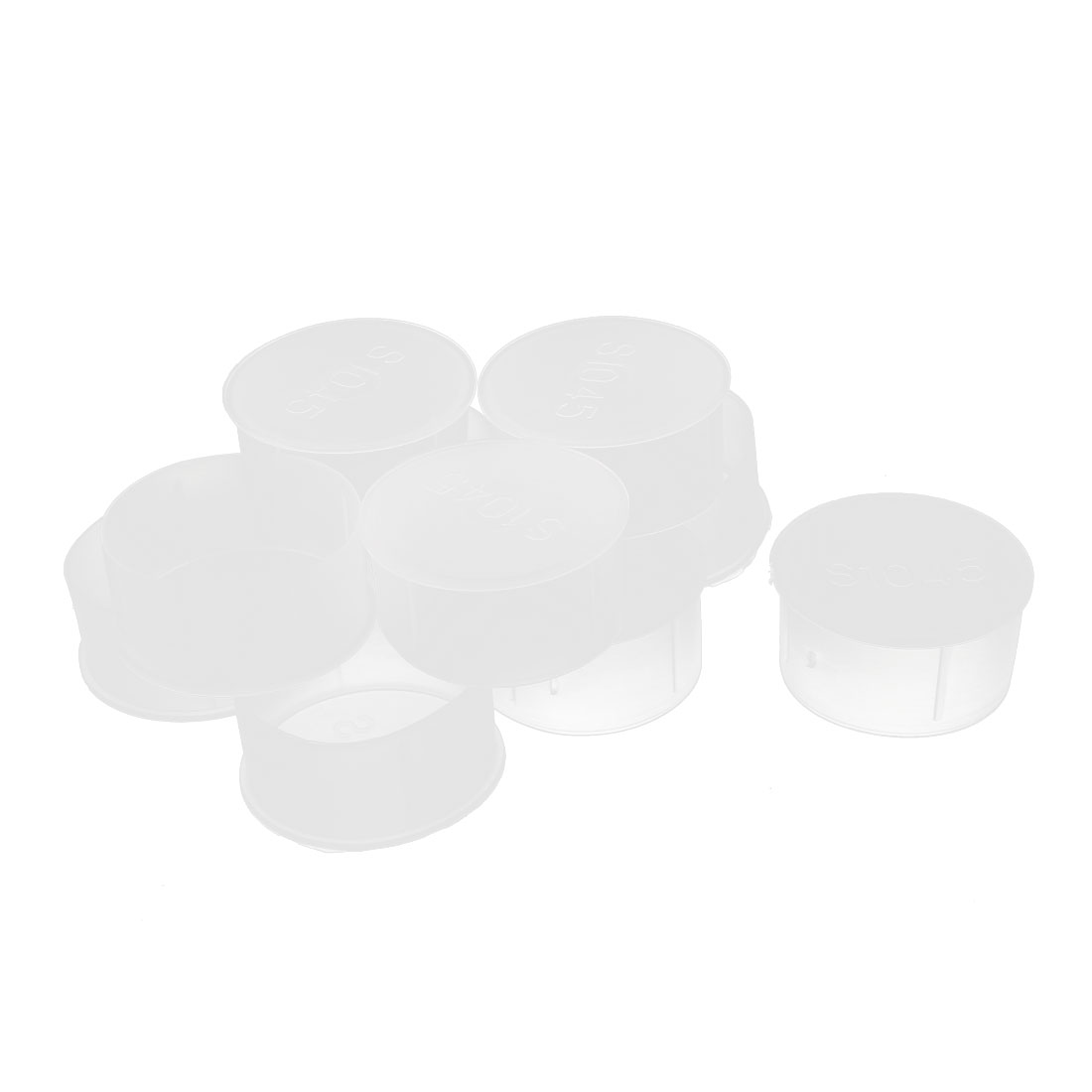 10Pcs 45mm Inner Dia PVC Insulated End Cap Wire Cable Tube Cover Protector