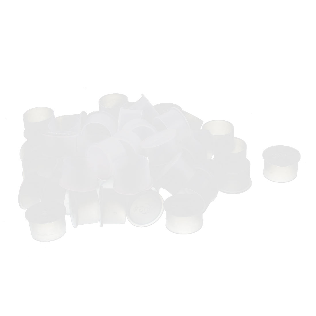 50Pcs 24mm Inner Dia PVC Insulated End Cap Wire Cable Tube Cover Protector