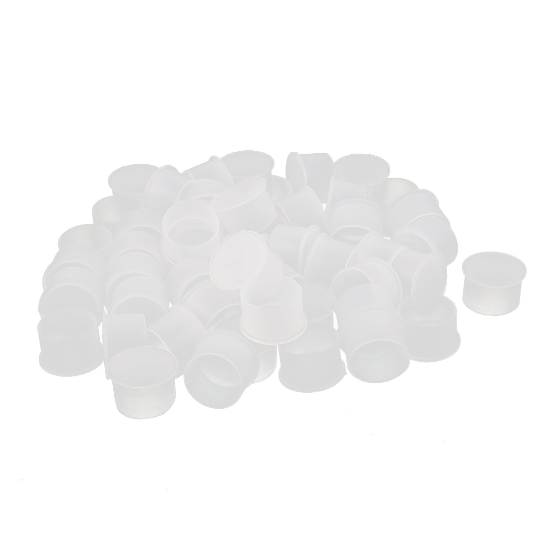 50Pcs 22mm Inner Dia PVC Insulated End Cap Wire Cable Tube Cover Protector