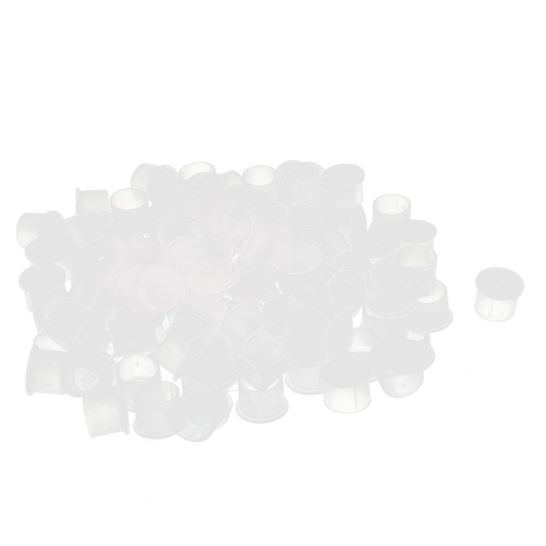 100Pcs 16mm Inner Dia PVC Insulated End Cap Wire Cable Tube Cover Protector