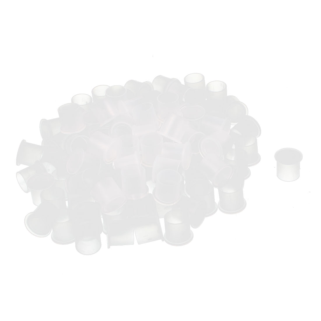100Pcs 10mm Inner Dia PVC Insulated End Cap Wire Cable Tube Cover Protector