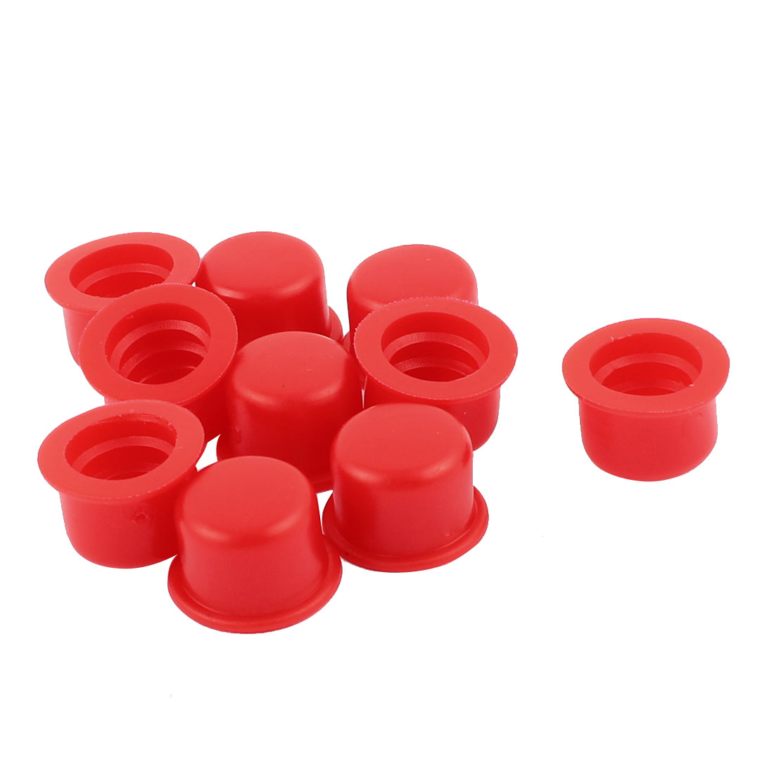 10 Pcs Red PVC End Cap Round 12mm Tubing Dustproof Tube Inserts
