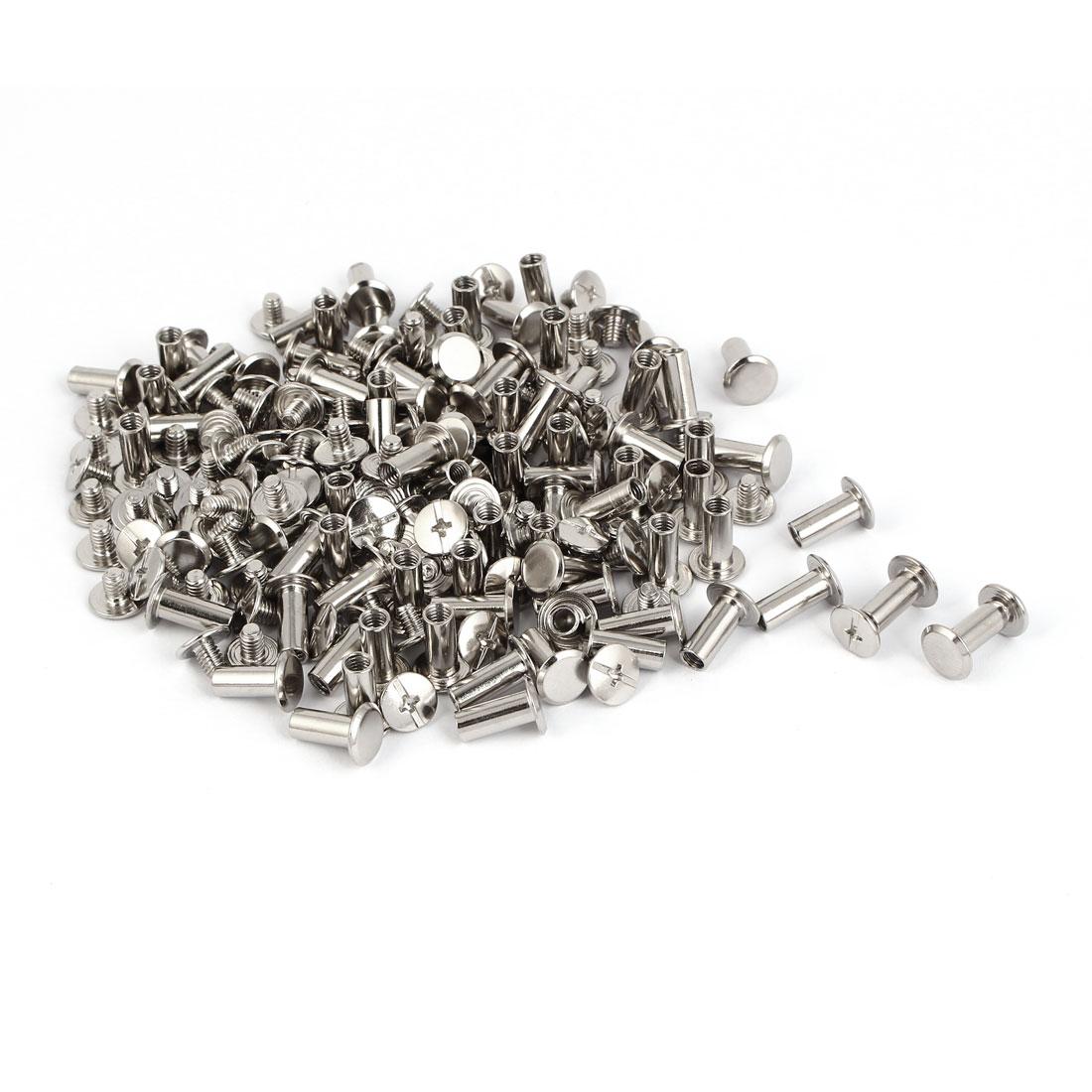 Purse Belts Photo Albums Metal Binding Chicago Screws Posts M5 x 12mm 100 Pcs
