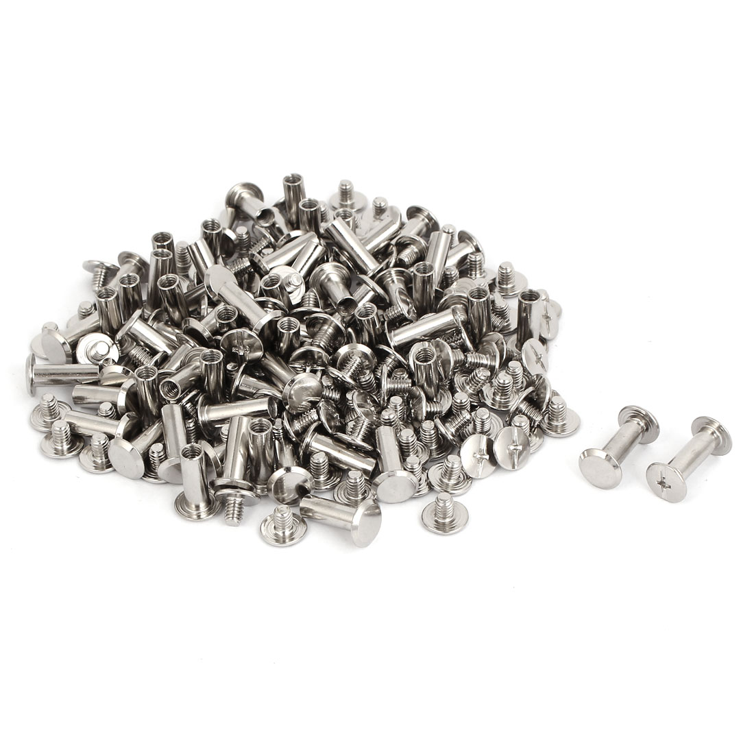 M5x13mm Leather Craft Belt Metal Nail Rivets Chicago Screws Binding Post 100pcs