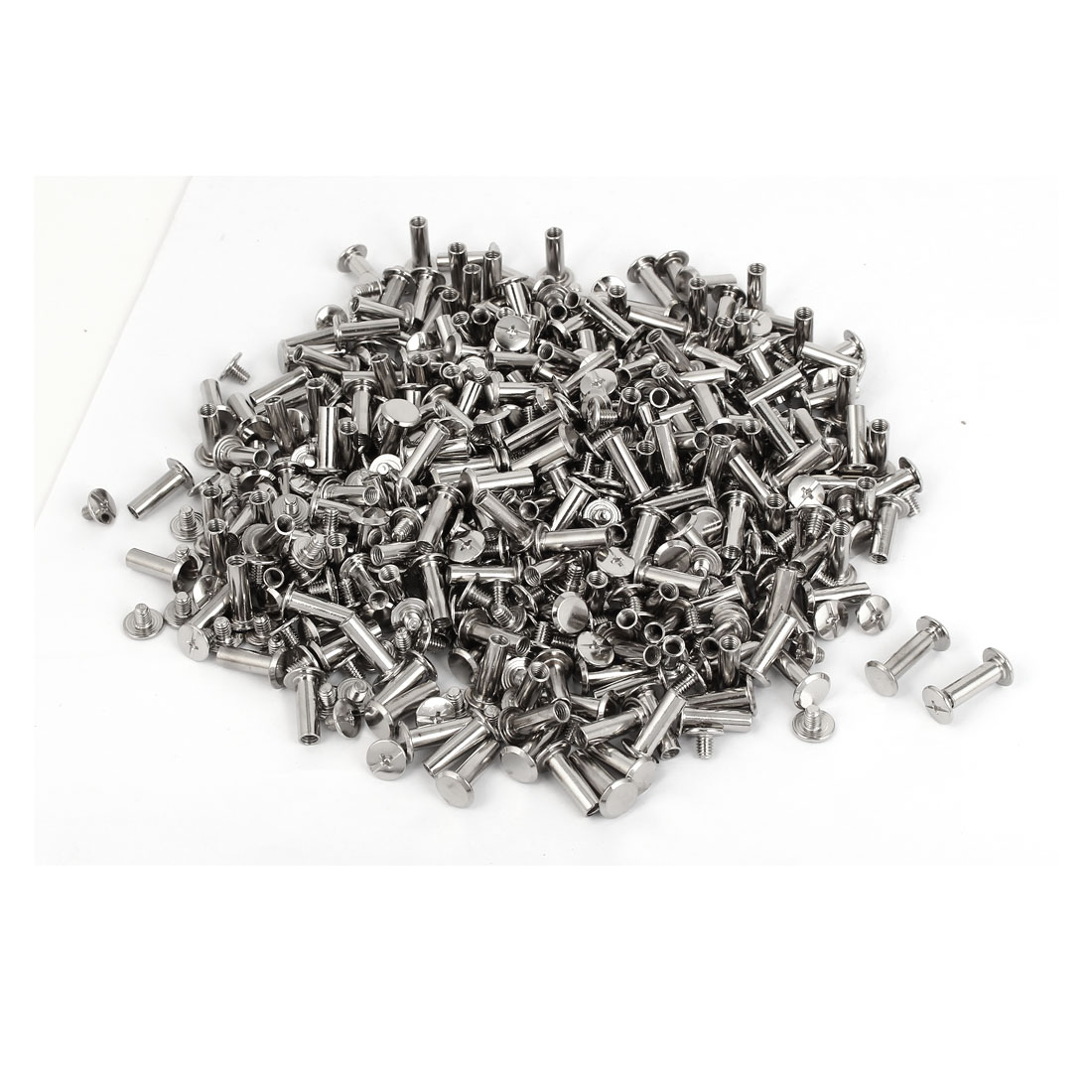 Scrapbooks Photo Albums Metal Binding Chicago Screws Bolts M5 x 15mm 500 Pcs