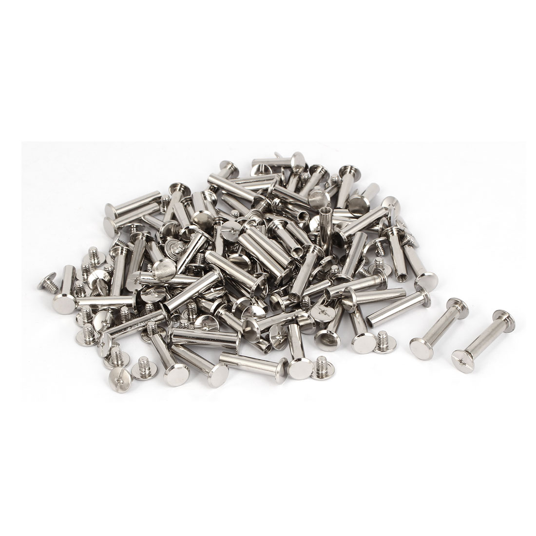 M5x23mm Photo Albums Scrapbook Metal Binding Screw Post Silver Tone 100 Pcs