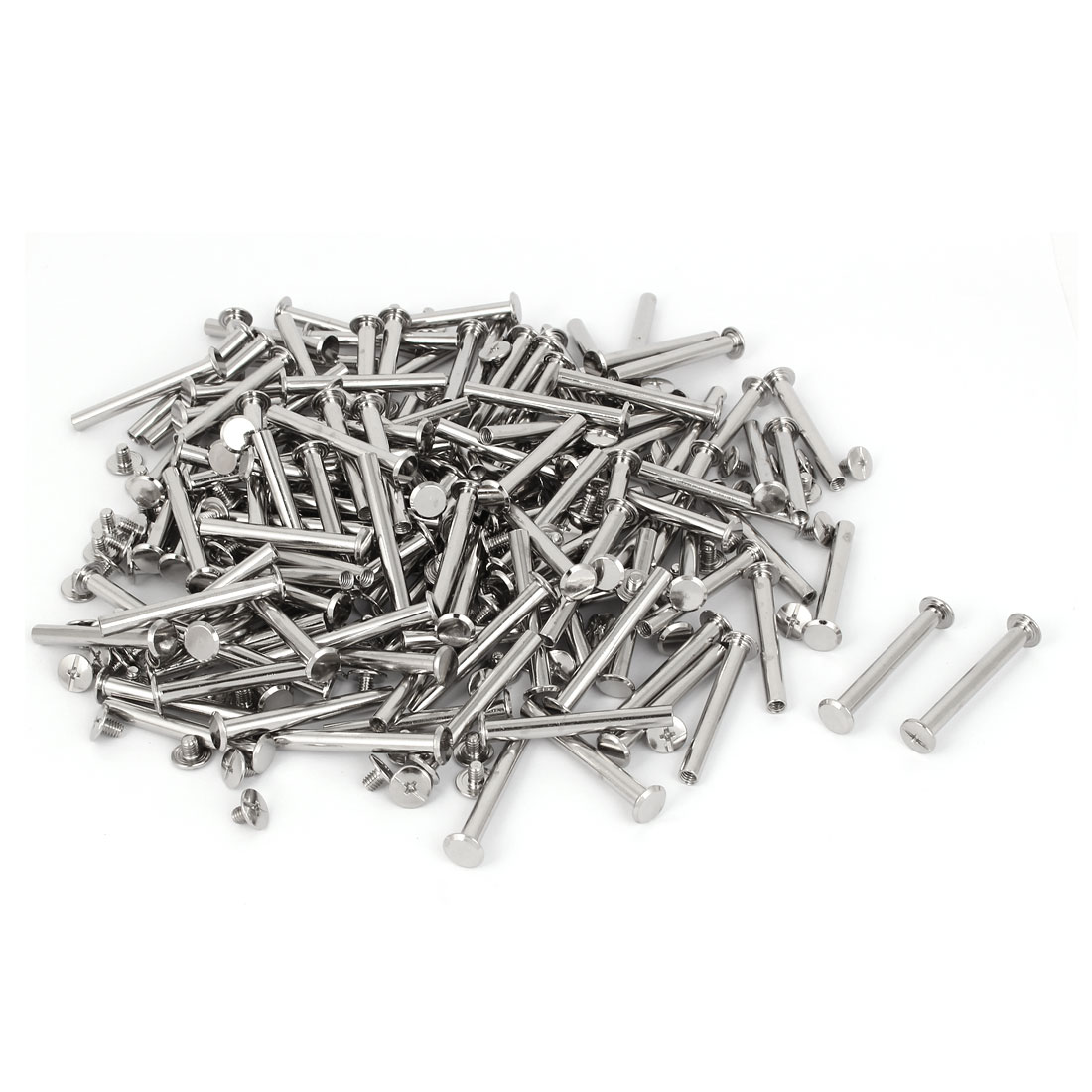 M5 x 42mm Photo Albums Aluminum Binding Screw Post Silver Tone 200 Pcs