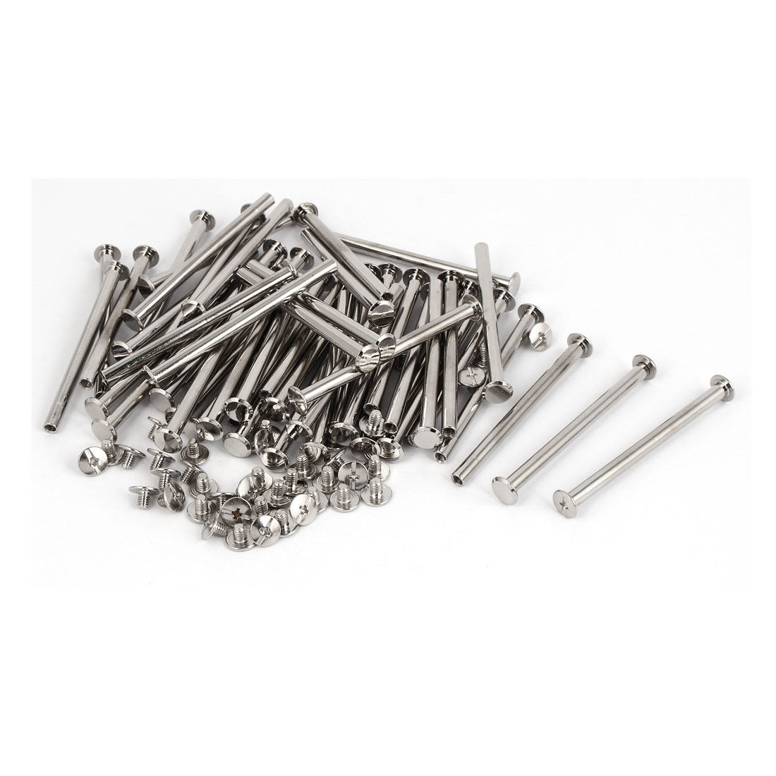 Scrapbook Purse Belt Metal Binding Chicago Screws Bolts M5 x 70mm 50 Pcs