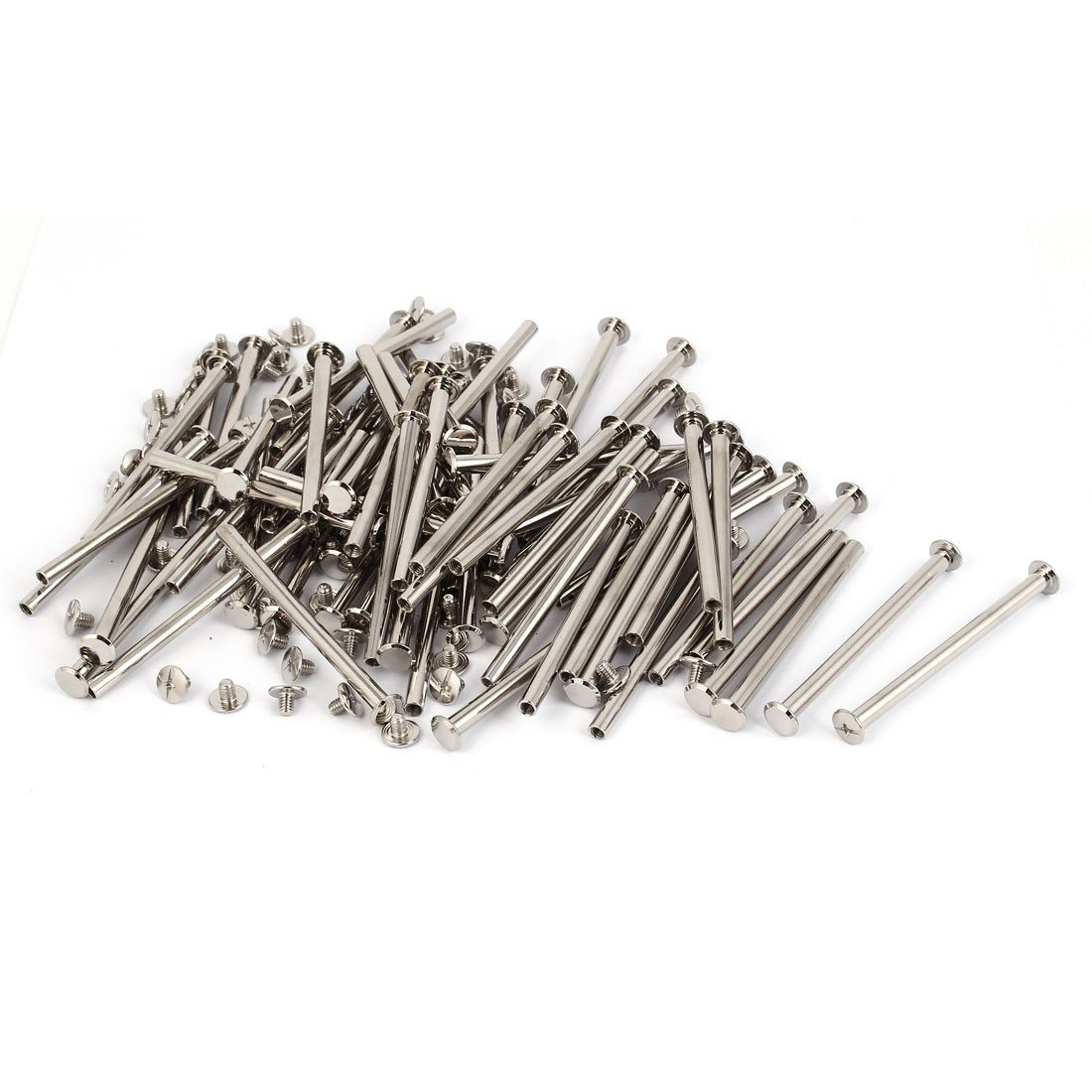 Scrapbook Photo Albums Binding Chicago Screws Posts M5 x 70mm 100 Pcs
