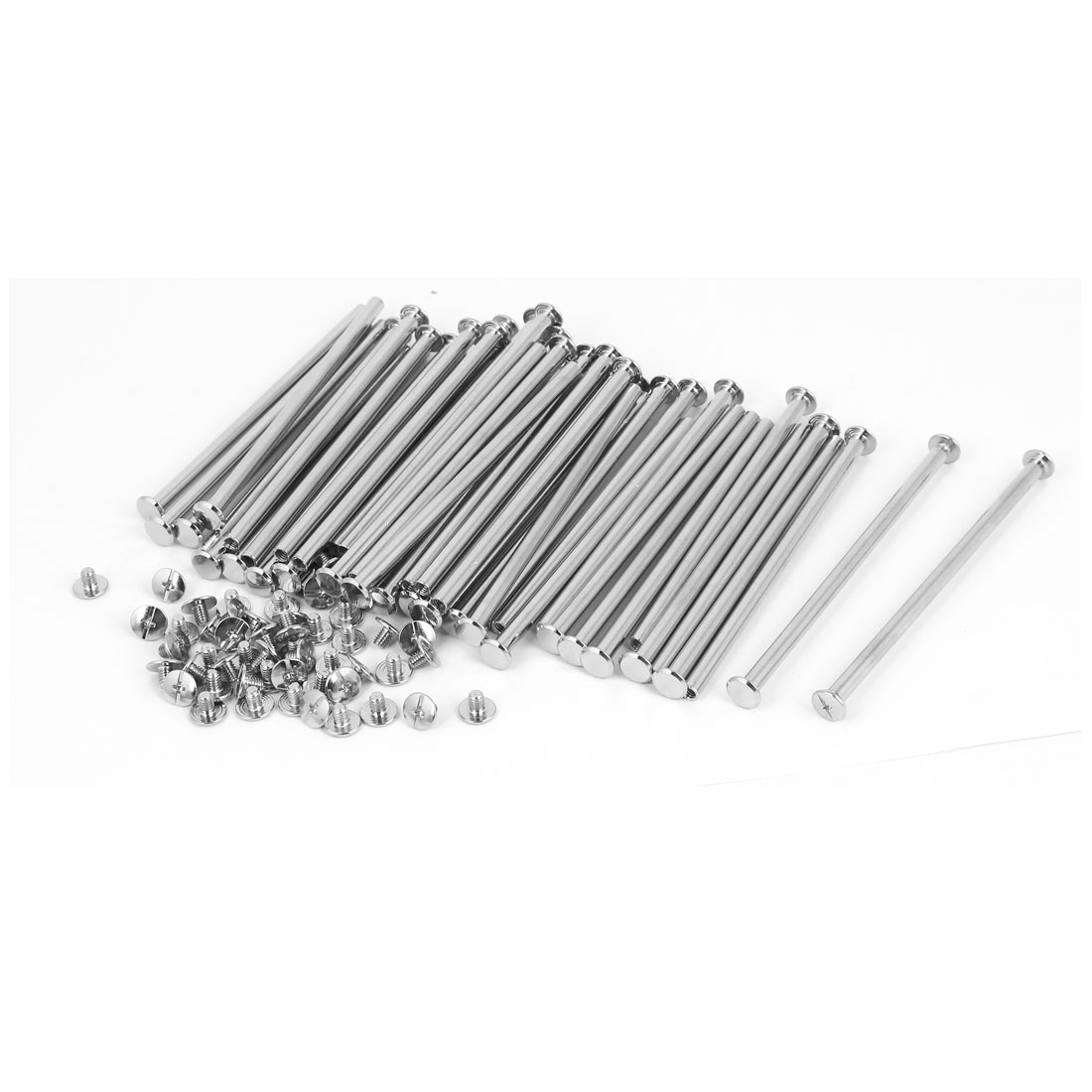 M5 x 105mm Books Albums Metal Binding Chicago Screws Posts 50 Pcs