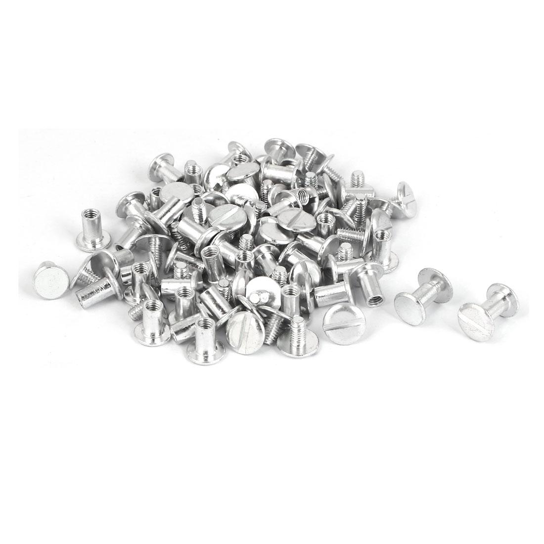 Purse Belts Scrapbooks Aluminum Binding Chicago Screws Posts M5 x 8mm 50 Pcs