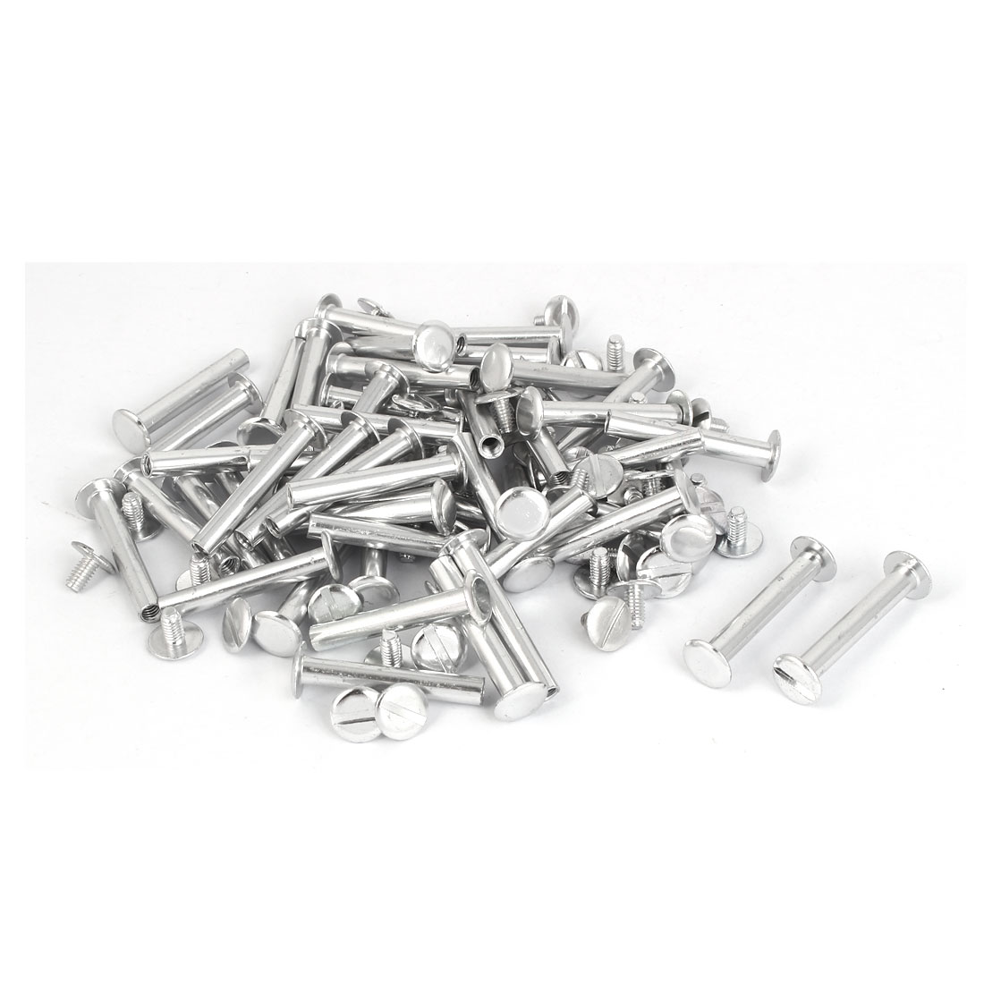 Purse Belts Photo Albums Aluminum Binding Chicago Screws Posts M5 x 33mm 50 Pcs