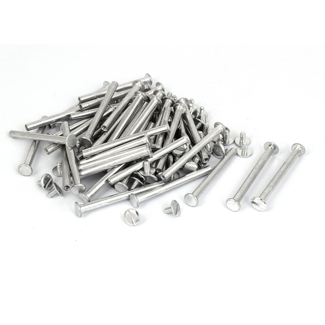 M5x55mm Aluminum Binding Screw Post 50pcs for Photo Albums Scrapbook