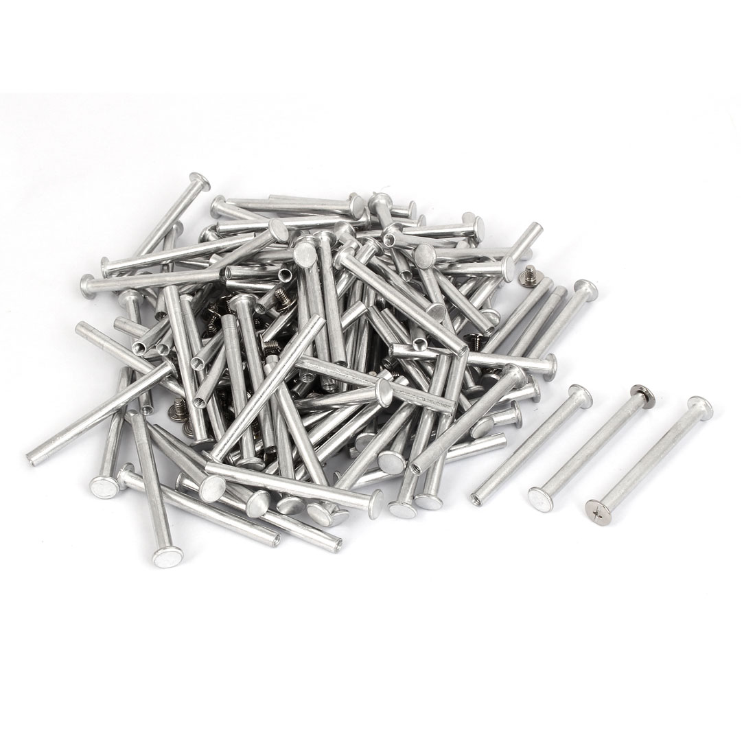M5x55mm Aluminum Binding Screw Post 100pcs for Photo Albums Scrapbook