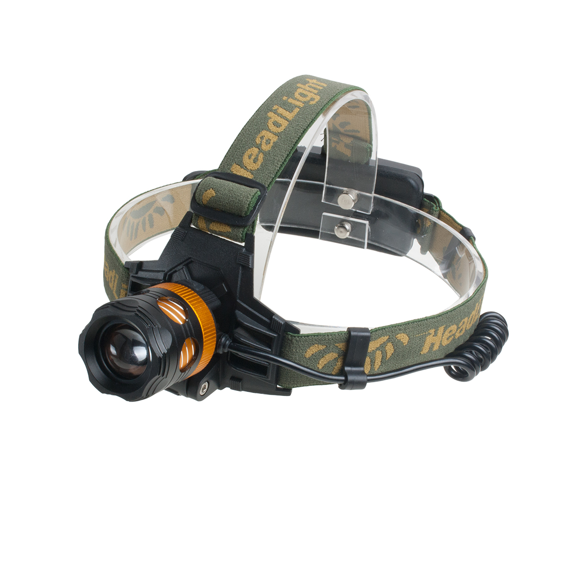 Battery Powered LED Headlamp Zoomable Head Light Biking Camping Dual Lighting Source lamp