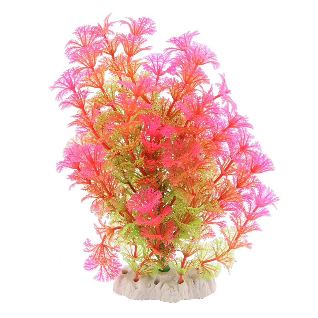Aquarium Fish Tank Artificial Landscape Plant Decoration Light Green Fuchsia