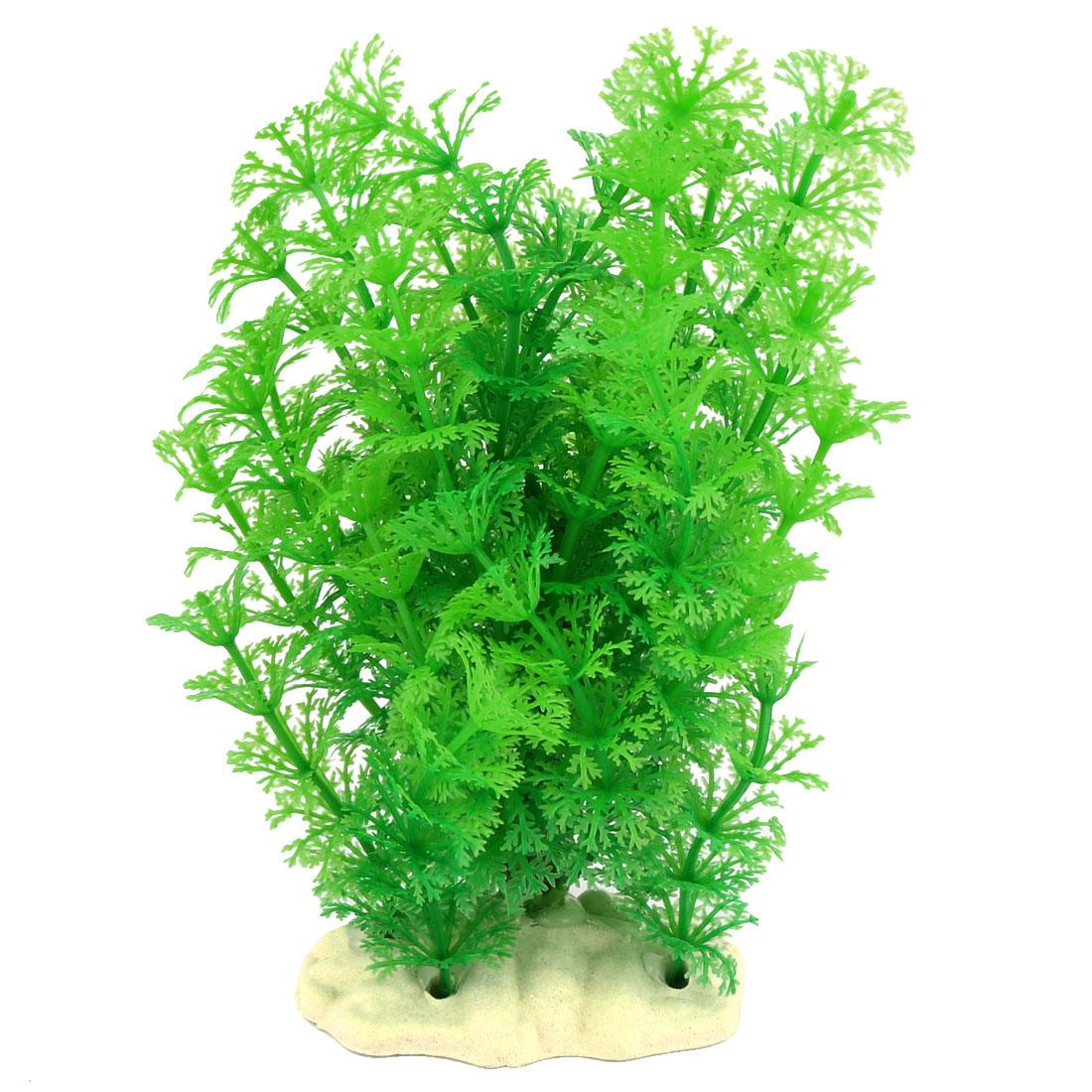 Aquarium Fish Tank Artificial Landscape Plant Tree Decoration Green 20cm Height