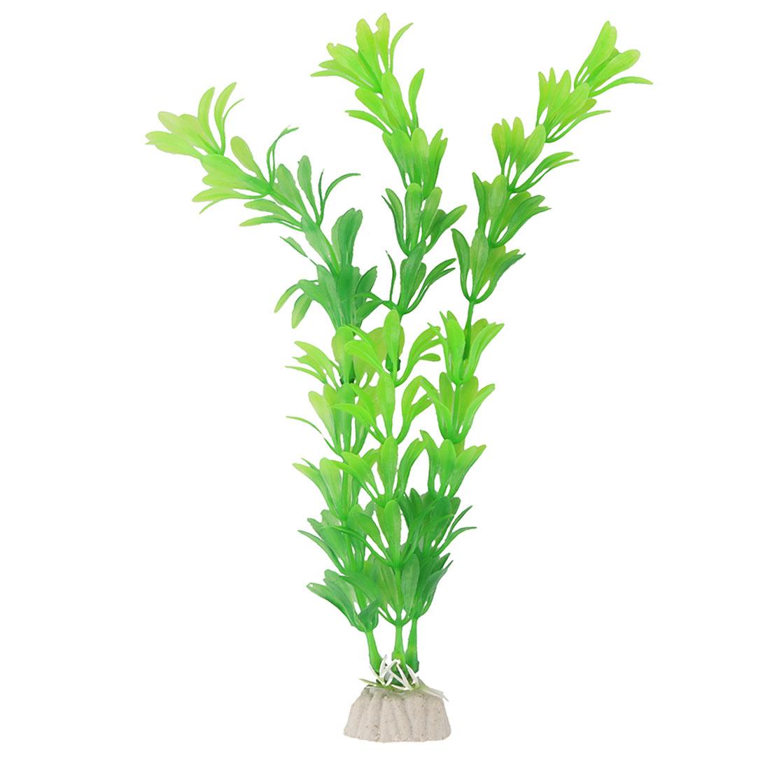 Aquarium Plastic Emulational Artificial Plant Grass Decoration Green 22cm Height