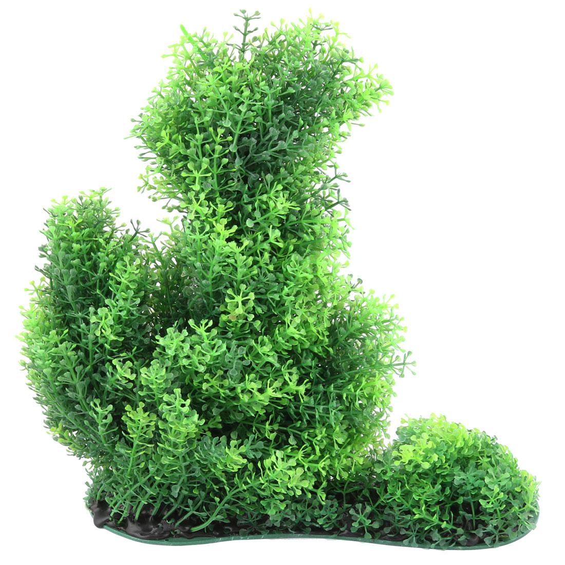 Aquarium Fish Tank Plastic Artificial Plant Grass Ornament Green 28cm Height
