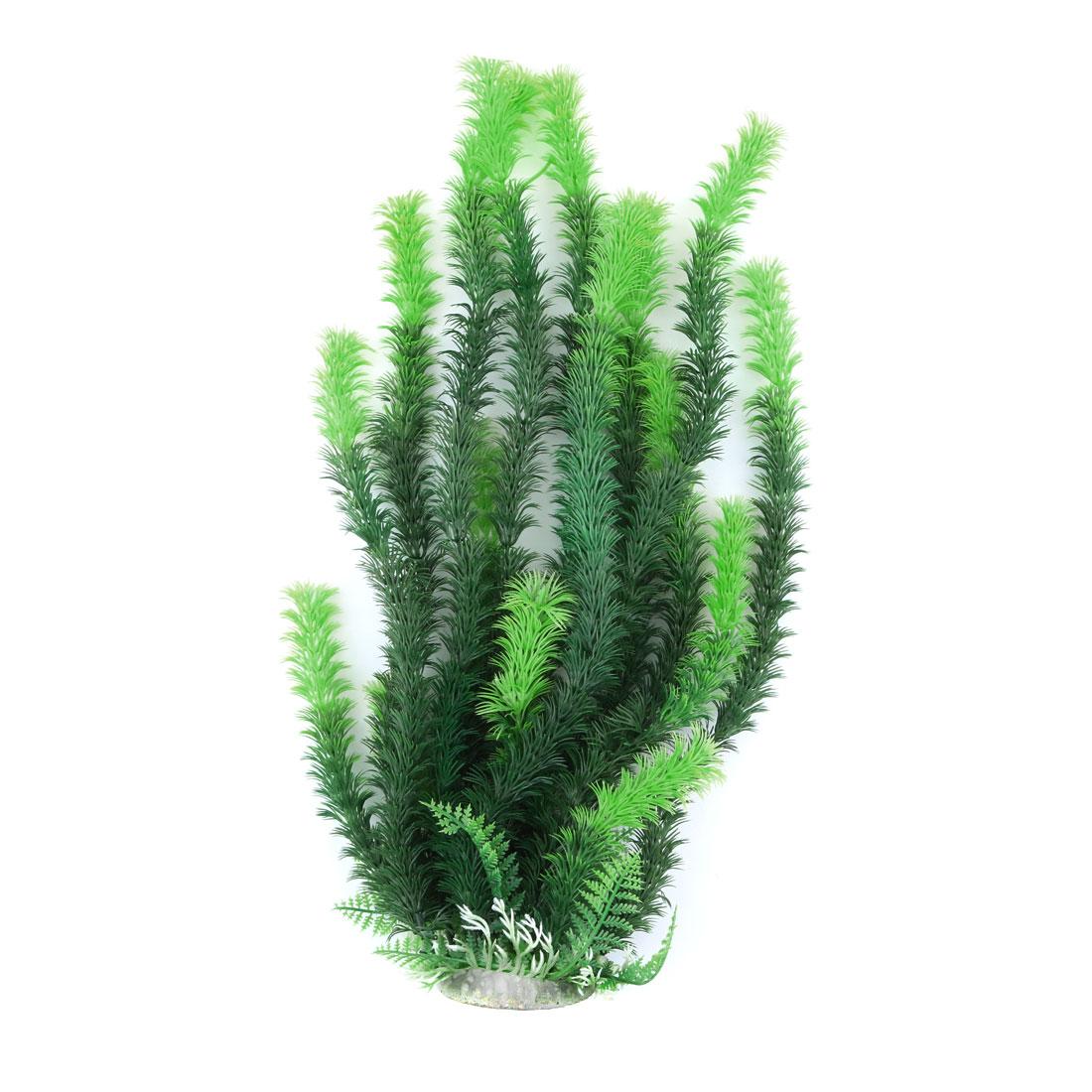 Aquarium Fish Bowl Plastic Artificial Plant Grass Decoration Green 46cm High