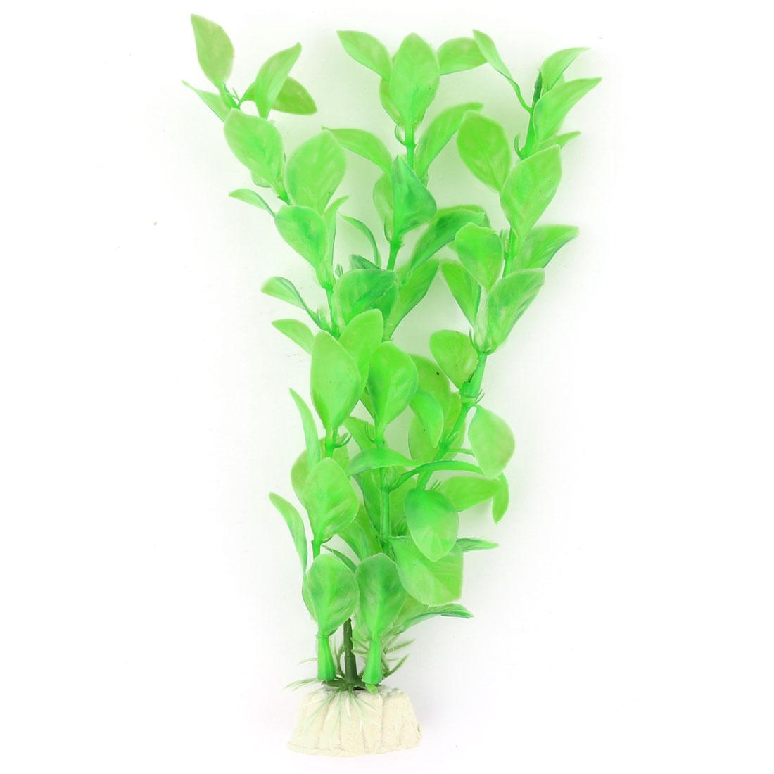 Aquarium Fish Bowl Plastic Artificial Plant Grass Ornament Green 17cm Height