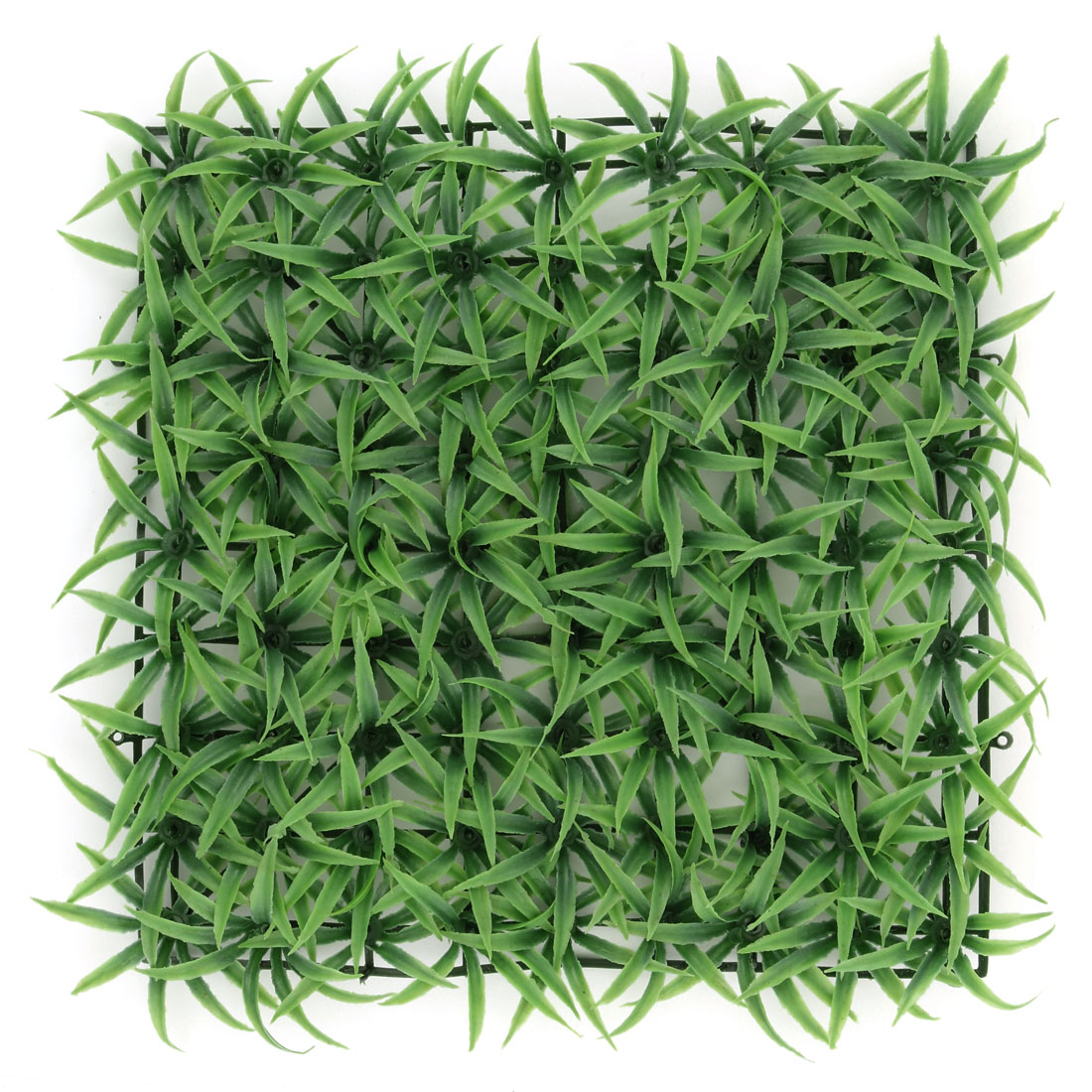 Aquarium Fish Tank Plastic Manmade Emulation Square Lawn Grass Plant Decor Green