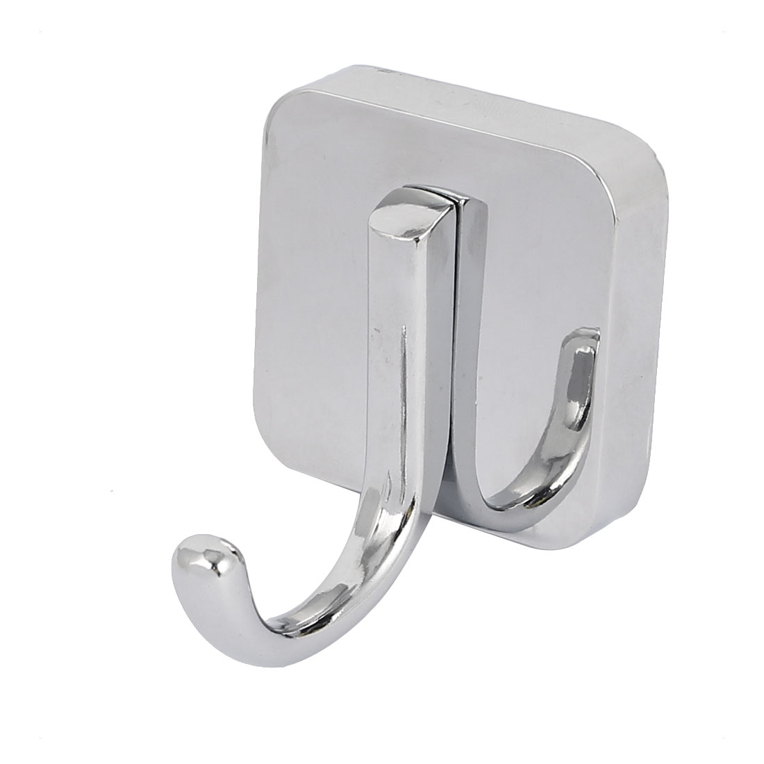 Bathroom Clothes Hanging Wall Mounted Zinc Alloy Chrome Plated Single Hanger Hook Silver Tone
